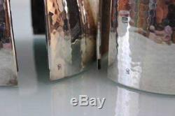 Art Deco WMF Bauhaus silver plated pair of egg shape coffee & tea set
