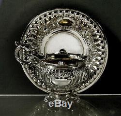 Austrian Silver Tea Set 2 Cups & Saucers c1890 Signed
