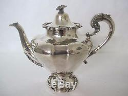 BEAUTIFUL 7pcs MEXICAN STERLING TEA SET by KIMBERLY STERLING TRAY 341 troy ounc