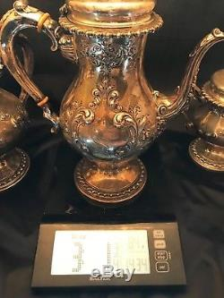 BEST Antique Sterling Silver 925 5 Piece Tea Set FRANK M WHITING CO 9+LBS Signed