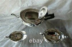 BIRKS STERLING SILVER 3 PC TEA COFFEE SET SCRAP $950+ 1184 grams