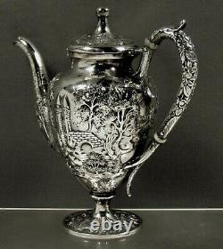 Baltimore Silversmiths Sterling Tea Set c1905 CASTLE