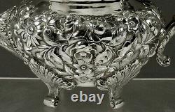 Baltimore Silversmiths Sterling Tea Set c1905 HAND DECORATED