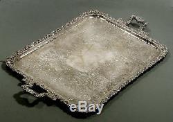 Barker-Ellis Silver Plated Tea Set Tray c1960 NO MONOGRAM 27 INCHES