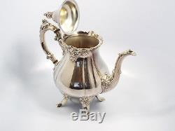 Baroque by Wallace 6 pc Silverplate Coffee Tea Set with Tray