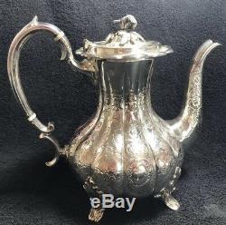 Beautiful Antique Victorian Silver Plated 4 Piece Tea Set