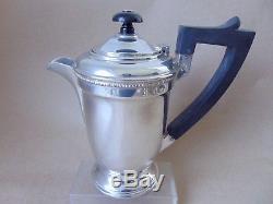 Beautiful Vintage Sterling Silver Four Piece Tea Set Service 1945