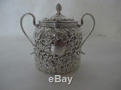 Best Of The Best C. 186o S. Kirk & Son Coin Silver Repousse Tea Set With 4 Pcs