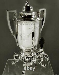 Bigelow & Kennard Silver Tea Set c1850 SWAN