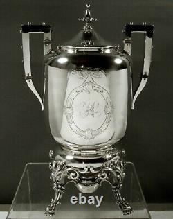 Bigelow & Kennard Sterling Tea Set c1845 GOTHIC