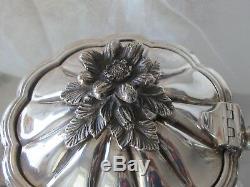 Birks sterling silver 3 pc tea coffee set George III Melon 1956 gr Not Scrap