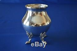 Birmingham Silver Silver on Copper Tea Set withTilting Tea Pot 6 Pc