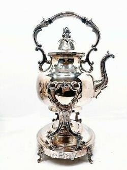 Brilliant Vintage 1930s / 1940s GOLDFEDER SILVER CO Full Tea Coffee Service Set