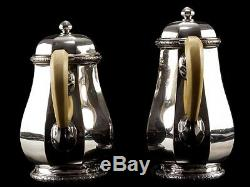 C1925 French Art Deco 4 Piece 950 Silver Tea & Coffee Set