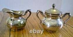 C1940's STERLING SILVER TEA SET FROM PERU MID CENTURY 6 PIECE WITH TRAY