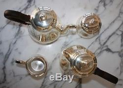CHRISTOFLE Silver SALE 85% OFF $5500 4pc Albi/Bagatelle COFFEE/TEA SET France