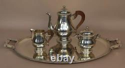 CHRISTOFLE silver plated Coffee Tea sugar pot creamer set France
