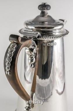 CRICHTON Early 20th Century Sterling Silver 5 Piece Tea & Coffee Set LONDON
