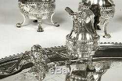 Cardeilhac Renaissance French Sterling Silver tea set Mascarons & chimera 1880