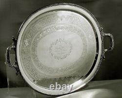 Charters Cann & Dunn Silver Tea Set Tray c1850