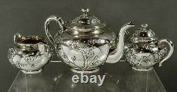 Chinese Export Silver Tea Set c1890 ZEEWO