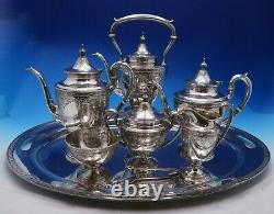 Cinderella by Gorham Sterling Silver Tea Set 7pc with Silverplate Tray (#4719)