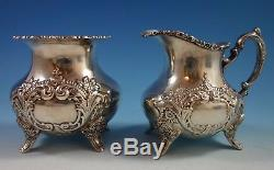 Crest of Windsor by Poole Sterling Silver Tea Set 6pc with Tray (#1805)
