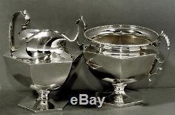 Daniel Low Sterling Silver Tea Set c1895 COLONIAL STYLE
