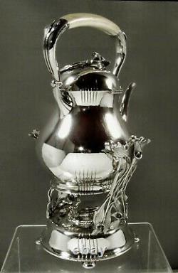 Danish Sterling Tea Set c1950 PETERSEN HAND MADE
