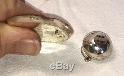 Dollhouse Miniature STERLING Silver Turquoise Tea Set Navajo signed E. M. W. 11 pc