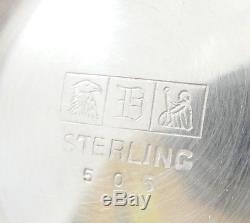 Dunkirk Silversmiths Sterling Silver Tea Coffee Set of 5 Hollowware Pattern 505