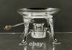 Durgin Sterling Tea Set c1910 HAND HAMMERED