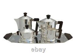 ERCUIS Silver Plate Stunning French Art Deco 5 Piece Tea Set