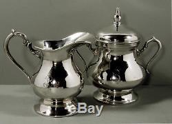 Ecuador Sterling Silver Tea & Coffee Set c1950 SIGNED 81 OUNCES