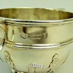 Edwardian Silver 3 Piece Tea Set Goldsmiths & Silversmiths London 1906/7 1080 G