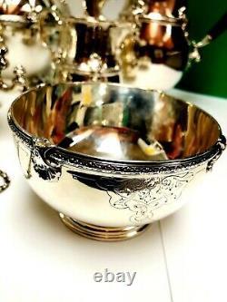 England Sterling Silver 7 PIECE Tea Coffee set 4530 grams
