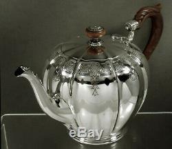 English Sterling Silver Tea Set 1931 QUEEN ANNE