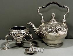 English Sterling Tea Set 1750 FITZHERBERT 73 OZ WAS $6500 NO RESERVE