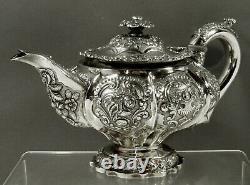 English Sterling Tea Set 1824 BOAR HEAD