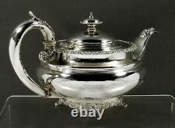 English Sterling Tea Set 1829 William Bateman No Mono