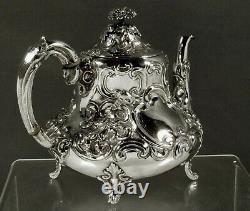 English Sterling Tea Set 1844 EXETER NO MONO