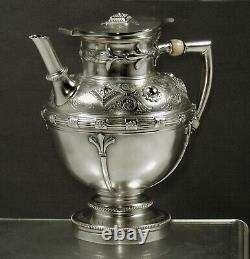 English Sterling Tea Set 1874 RENAISSANCE REVIVAL