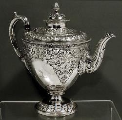 English Sterling Tea Set 1876 MARTIN & HALL PERSIAN TASTE