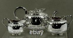English Sterling Tea Set 1893 MARTIN & HALL NO MONO