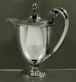 English Sterling Tea Set 1925 LION HANDLES