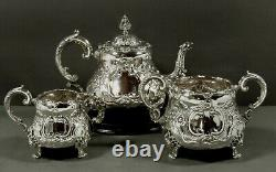 English Sterling Tea Set 1935 GEORGIAN