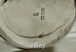 English Sterling Tea Set Kettle & Stand 1901 Queen Anne Manner