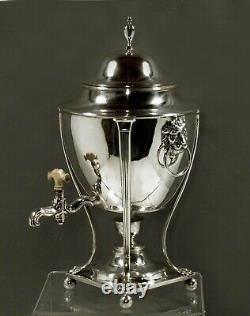 English Sterling Tea Set LIONS 108 OUNCES