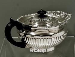English Sterling Tea Set PAUL STORR DESIGN MASKS & SHELL 54 OZ