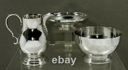 English Sterling Tea Set Peter Guille, 1950 QUEEN ANNE
